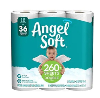 Angel Soft 18 Double =36 Reg 2/Case