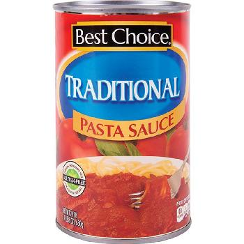 Best choice Traditional Pasta Sauce 12/24oz