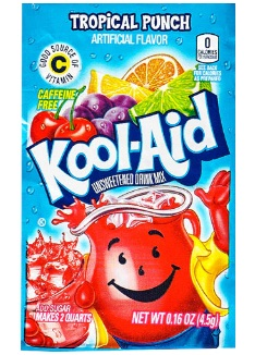 Kool-Aid Tropical Punch 4/48ct/0.23oz
