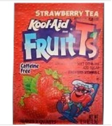 Kool Aid Strawberry tea Fruit Ts 4/72ct