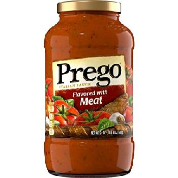 Prego Meat Flavors Glass 12/24oz