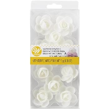 Wafer White Rose Decoration 16/10ct